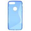 Szilikon védõ tok / hátlap - FÉNYES / MATT - KÉK - APPLE iPhone 7 Plus (5.5)