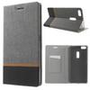 Notesz tok / flip tok - SZÜRKE - asztali tartó funkciós, oldalra nyíló, bankkártya tartó zsebekkel, szilikon belsõ - ASUS Zenfone 3 Ultra (ZU680KL)