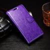CRAZY notesz tok / flip tok - LILA - asztali tartó funkciós, oldalra nyíló, rejtett mágneses záródás, bankkártyatartó zseb, szilikon belsõ - Sony Xperia E5