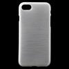 Szilikon védõ tok / hátlap - szálcsiszolt mintázat - FEHÉR - APPLE iPhone 7
