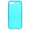 Szilikon védõ tok / hátlap - FÉNYES - KÉK - APPLE iPhone 7