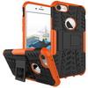 OTT! VROOM mûanyag védõ tok / hátlap - FEKETE / NARANCS - AUTÓGUMI MINTÁS - szilikon betétes, asztali tartó funkciós, ERÕS VÉDELEM! - APPLE iPhone 7