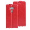 SLIM FLIP tok - PIROS - lefelé nyíló, rejtett mágneses záródás, szilikon belsõ, bankkártya tartó, elõlapi hangszóró nyílás -  LG K3