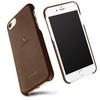 LENUO mûanyag védõ tok / bõr hátlap - BARNA - APPLE iPhone 7 (4.7) - GYÁRI