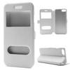 Mûanyag védõ tok / hátlap - FEHÉR - oldalra nyíló s-view cover flip, asztali tartó funkció, mágneses záródás, hívásfelvétel - APPLE iPhone 7 (4.7)