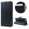 Mercury notesz tok/ flip tok - SÖTÉTKÉK - asztali tartó funkciós, oldalra nyíló, rejtett mágneses záródás, bankkártya tartó zsebekkel - APPLE iPhone 7 (4.7) - GYÁRI