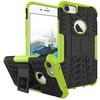 OTT! VROOM mûanyag védõ tok / hátlap - AUTÓGUMI MINTÁS - FEKETE / ZÖLD - szilikon betétes, asztali tartó funkciós, ERÕS VÉDELEM! - APPLE iPhone 7 (4.7)