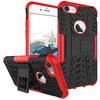 OTT! VROOM mûanyag védõ tok / hátlap - AUTÓGUMI MINTÁS - FEKETE / PIROS - szilikon betétes, asztali tartó funkciós, ERÕS VÉDELEM! - APPLE iPhone 7 (4.7)