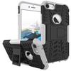 OTT! VROOM mûanyag védõ tok / hátlap - AUTÓGUMI MINTÁS - FEKETE / FEHÉR - szilikon betétes, asztali tartó funkciós, ERÕS VÉDELEM! - APPLE iPhone 7 (4.7)