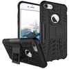 OTT! VROOM mûanyag védõ tok / hátlap - AUTÓGUMI MINTÁS - FEKETE - szilikon betétes, asztali tartó funkciós, ERÕS VÉDELEM! - APPLE iPhone 7 (4.7)