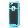 OTT! BRUSH mûanyag védõ tok / hátlap - szálcsiszolt mintázatú - VILÁGOSKÉK - szilikon betétes, ERÕS VÉDELEM! - APPLE iPhone 7 (4.7)