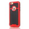 OTT! BRUSH mûanyag védõ tok / hátlap - szálcsiszolt mintázatú - PIROS - szilikon betétes, ERÕS VÉDELEM! - APPLE iPhone 7 (4.7)