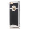OTT! BRUSH mûanyag védõ tok / hátlap - szálcsiszolt mintázatú - EZÜST - szilikon betétes, ERÕS VÉDELEM! - APPLE iPhone 7 (4.7)