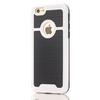 OTT! BRUSH mûanyag védõ tok / hátlap - szálcsiszolt mintázatú - FEHÉR - szilikon betétes, ERÕS VÉDELEM! - APPLE iPhone 7 (4.7)