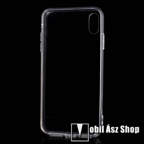Műanyag védő tok / hátlap - szilikon szegély, porvédő funkció - ÁTLÁTSZÓ - APPLE iPhone 9 Plus