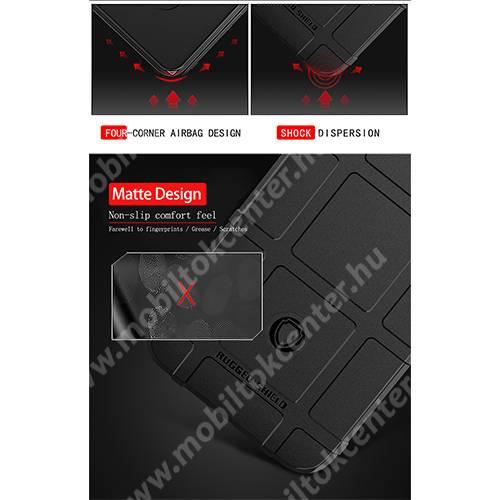 OTT! RUGGED SHIELD szilikon védő tok / hátlap - matt, ERŐS VÉDELEM - ZÖLD - Xiaomi Mi CC9e / Xiaomi Mi A3