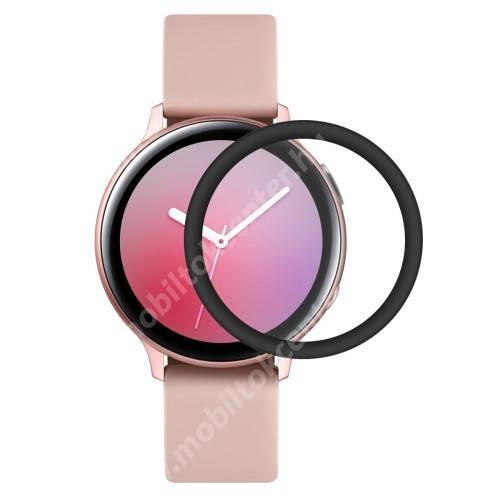 HAT PRINCE okosóra képernyővédő fólia - 1db - 3D Curved, A teljes képernyőt védi - FEKETE - Samsung Galaxy Watch Active2 40mm - GYÁRI