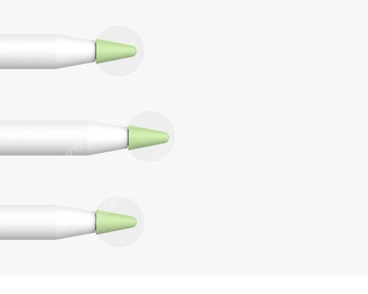 Apple Pencil / Apple Pencil (2nd Generation) érintő ceruzahegy védőtok, 1mm vastag, 1db - FEHÉR