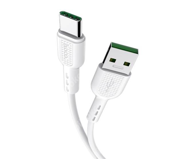 HOCO X33 adatátvitel adatkábel és töltő - Type-C, 1m, 5A, OPPO VOOC 5V/4A, OPPO Super VOOC10V/5A, Oneplus DASH 5V/4A, Huawei SuperCharge 4.5V/5A; 10V/4A gyorstöltés támogatás - FEHÉR - X33_TYPE-C_W - GYÁRI