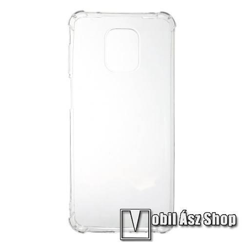 Szilikon védő tok / hátlap - FÉNYES - ÁTLÁTSZÓ - erősített sarkok - Xiaomi Redmi Note 9S / Xiaomi Redmi Note 9 Pro / Xiaomi Redmi Note 9 Pro Max
