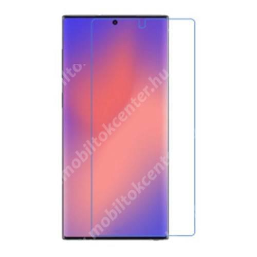 Képernyővédő fólia - Clear - 1db, törlőkendővel, a képernyő sík részét védi - SAMSUNG Galaxy Note20 Ultra (SM-N985F)