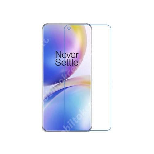 Képernyővédő fólia - Ultra Clear - 1db, törlőkendővel, A képernyő sík részét védi! - OnePlus 9 Pro