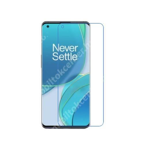 Képernyővédő fólia - Ultra Clear - 1db, törlőkendővel, A képernyő sík részét védi! - OnePlus 9 (EU/NA)