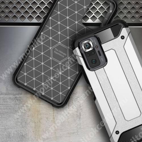 OTT! MAX DEFENDER műanyag védő tok / hátlap - EZÜST - szilikon belső, ERŐS VÉDELEM! -  Xiaomi Redmi Note 10 Pro / Redmi Note 10 Pro Max