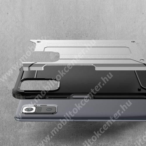 OTT! MAX DEFENDER műanyag védő tok / hátlap - PIROS - szilikon belső, ERŐS VÉDELEM! -  Xiaomi Redmi Note 10 Pro / Redmi Note 10 Pro Max