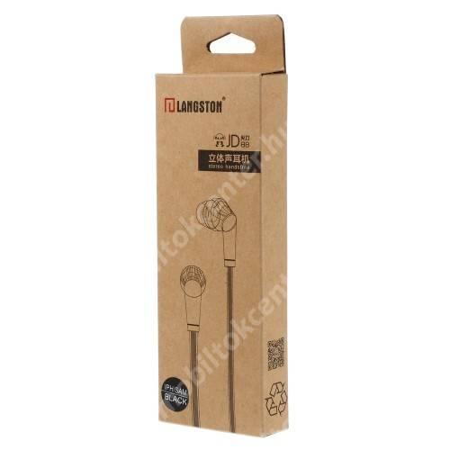 Langston JD88 univerzális sztereo headset - 3,5mm jack csatlakozó - FEKETE / PIROS