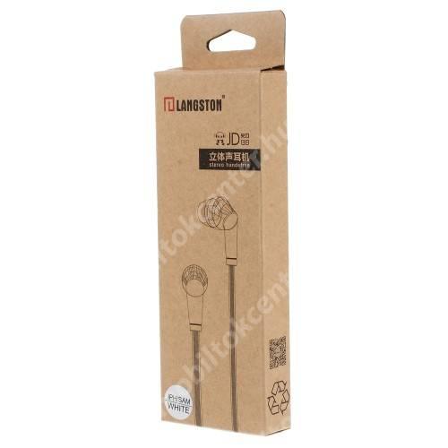 Langston JD88 univerzális sztereo headset - 3,5mm jack csatlakozó - FEHÉR