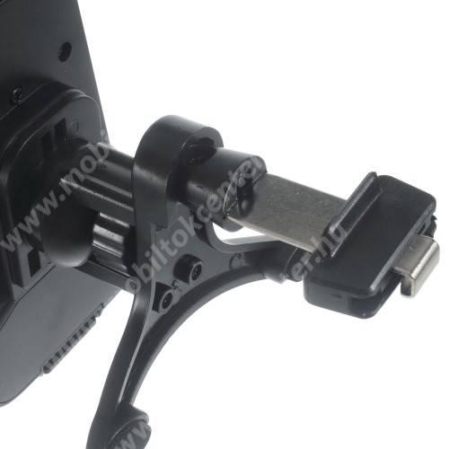 UNIVERZÁLIS gépkocsi / autós tartó - szellőző rácsra helyezhető, 360°-ban forgatható - 70-90 / 100-165 mm-ig nyíló bölcsővel - FEKETE / ZÖLD