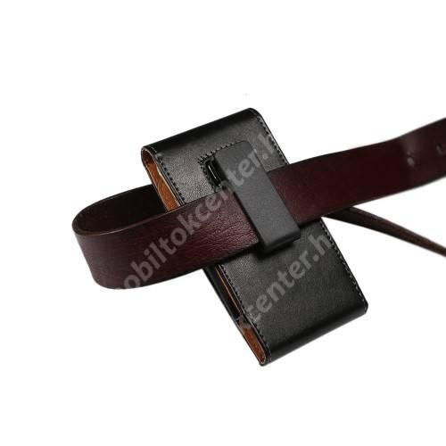 UNIVERZÁLIS álló tok - elforgatható övcsipesz, mágnes záródás - 160 x 80 x 10mm - FEKETE