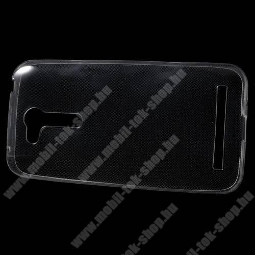 Szilikon védõ tok / hátlap - ULTRAVÉKONY! 0,6mm - ÁTLÁTSZÓ - ASUS Zenfone Go (ZB452KG)