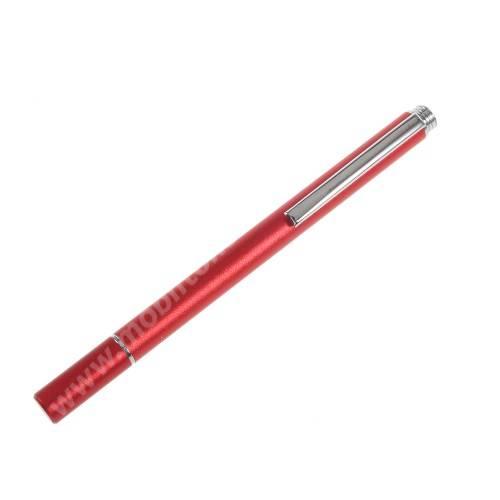 Érintőképernyő ceruza - kapacitív kijelzőhöz, KÉZÍRÁSRA, RAJZOLÁSRA IS ALKALMAS - PIROS