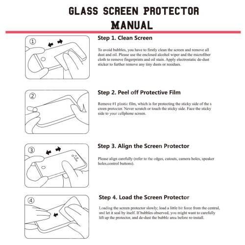 Előlap védő karcálló edzett üveg - 0,26mm, arc edge, A képernyő sík részét védi - Xiaomi Redmi 4X