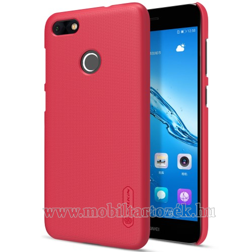 NILLKIN műanyag védő tok / hátlap - PIROS - képernyővédő fólia - HUAWEI Enjoy 7 / HUAWEI Y6 Pro (2017) / HUAWEI P9 lite mini - GYÁRI