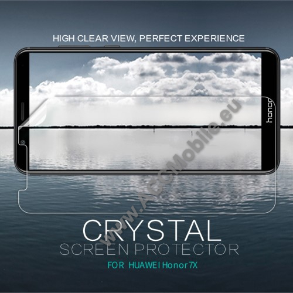 NILLKIN képernyővédő fólia - Crystal Clear - 1db, törlőkendővel - HUAWEI Honor 7X - GYÁRI