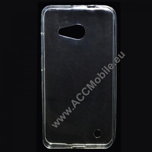 Szilikon védő tok / hátlap - ULTRAVÉKONY! 0,6mm - ÁTLÁTSZÓ - MICROSOFT Lumia 550
