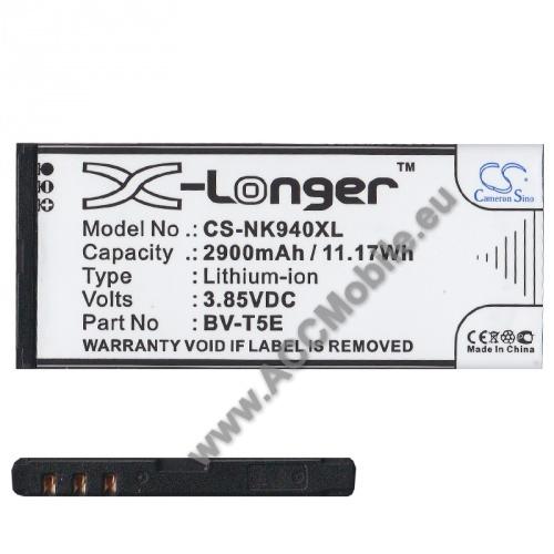 Akku 2900 mAh LI-ION - MICROSOFT BV-T5E kompatibilis - MICROSOFT Lumia 950 / MICROSOFT Lumia 950 Dual SIM