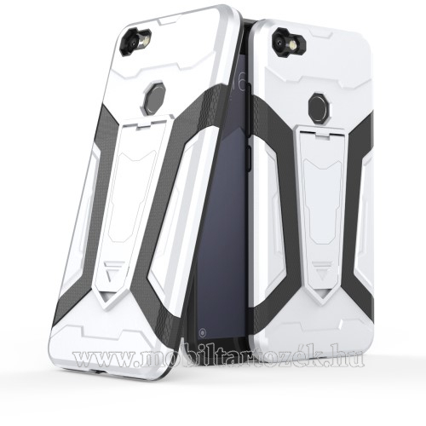 OTT! DEFENDER PRO műanyag védő tok / hátlap - FEHÉR - szilikon betétes, kitámasztható - ERŐS VÉDELEM! - Xiaomi Redmi Note 5A Prime / Xiaomi Redmi Y1