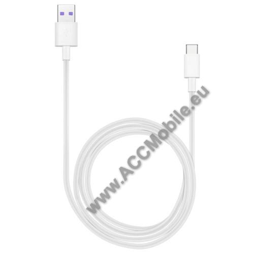 APPLE iPad Pro 11 (2018)HUAWEI Honor AP71 SuperCharge adatátvitel adatkábel és USB töltő - FEHÉR - USB / USB Type-C, 1m, USB 2.0, 5A! - GYÁRI