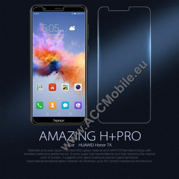 NILLKIN elõlap védõ karcálló edzett üveg, Amazing H+ PRO - Huawei Honor 7X - GYÁRI