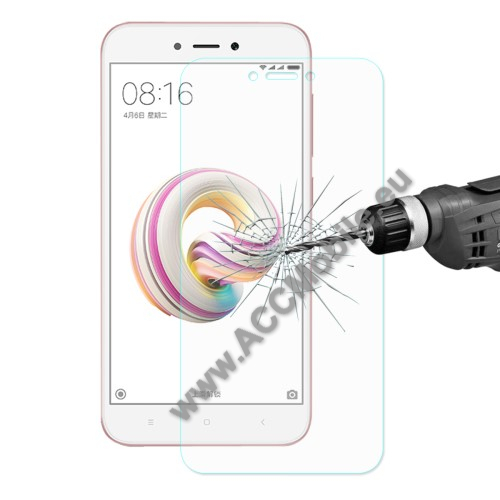 HAT PRINCE elõlap védõ karcálló edzett üveg - 0,26 mm vékony, 9H, Arc Edge - Xiaomi Redmi 5A