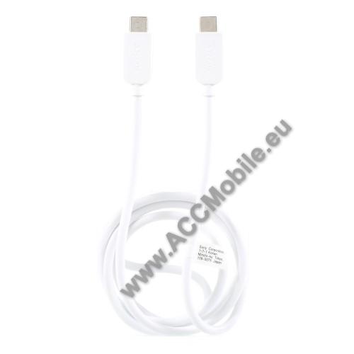 SONY USB Type-C / Type-C adatátviteli kábel / USB töltő 0,2 m - FEHÉR - GYÁRI