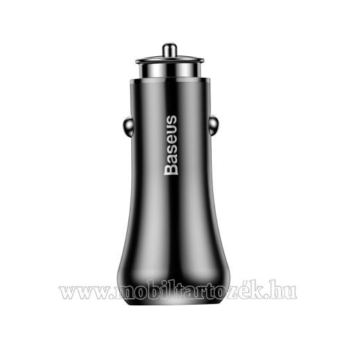 BASEUS Gentry Series szivargyújtós töltő / autós töltő - 2db USB aljzat, 1 x QC3.0:3.6V-6.5V/3A; 6.5-9V/2A; 9V-12V/1.5A 1 x 5V/2.4A - FEKETE - GYÁRI