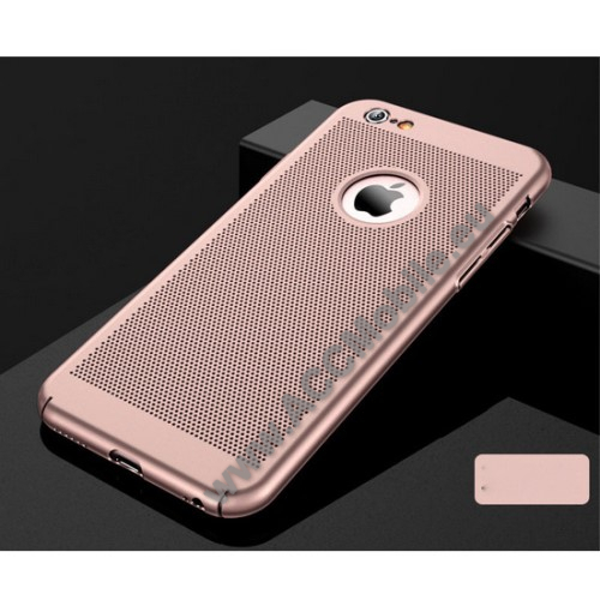 Műanyag védő tok / hátlap - lyukacsos mintás - ROSE GOLD - APPLE iPhone 7 / APPLE iPhone 8