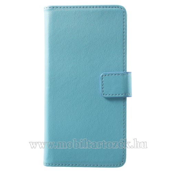 Wallet notesz / flip tok - KÉK - oldalra nyíló, rejtett mágneses, álló, asztali tartó funkció, bankkártya tartó, szilikon belső - SAMSUNG SM-G965 Galaxy S9+