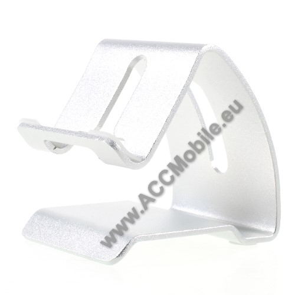HUAWEI P8UNIVERZÁLIS alumínium asztali tartó / állvány - FEHÉR