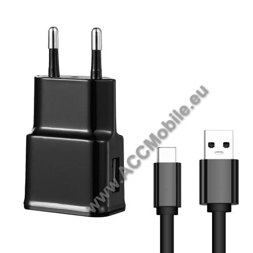 APPLE iPad Pro 11 (2018)Hálózati töltő - 5V/2100mAh, USB aljzat, Type-C töltõ, adatátviteli kábellel - FEKETE
